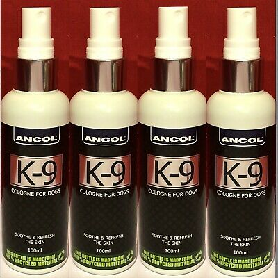 4 Ancol K-9 Cologne Dog Puppy Spray Fragrance Perfume Soothe Refresh The Skin • 26.99£