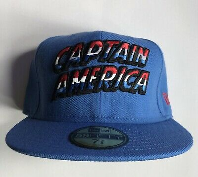 NEW ERA X MARVEL CAPTAIN AMERICA 59Fifty Fitted Cap 7 3/8 Rare Genuine Avengers • 15£