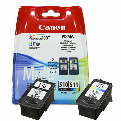 Genuine Canon PG-510 Black + CL-511 Colour Ink Cartridges | FREE 🚚 DELIVERY • 28.95£