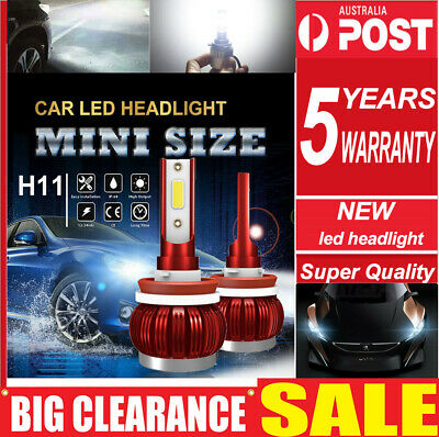 AU17.33 • Buy Pair H11 H9 H8 200W 30000LM LED Headlight Driving Lamp Globe Canbus ERROR FREE