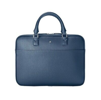 $650 • Buy Montblanc 118690 Sartorial Ultra Slim Document Case Briefcase Bag Leather New