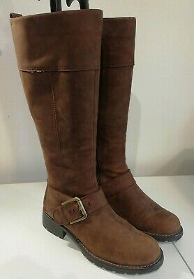 Clarks Tan Snuff Leather Orinoco Jazz Knee High Boots - Size 4 D • 20£
