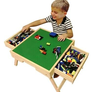 £69.99 • Buy Folding Wooden Table /Lego City Play Table Storage Drawers Custom Made For Kids❤