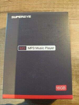SUPEREYE MP3 Player, 16G Portable Lossless Sound MP3 Players With Bluetooth 4.1 • 19.50£