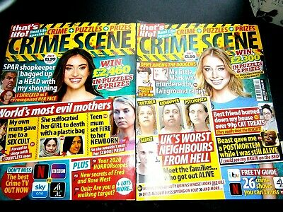 That's Life Special Crime Scene Magazines Issue 1 & 2 (new) 2020 • 4.25£