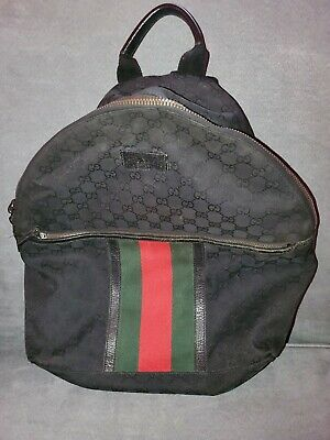 $ CDN890.19 • Buy Gucci Mens Black GG Supreme Canvas Backpack W/Signature Web Detail Authentic