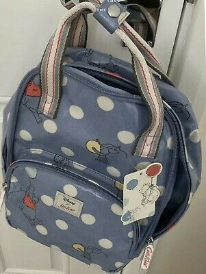 NWT. Cath Kidston X Disney Winnie The Pooh Button Spot Kids Medium Backpack • 39£