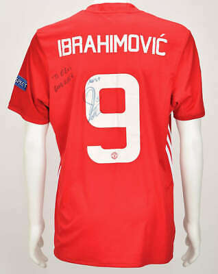 AU2590.33 • Buy Zlatan Ibrahimovic Signed Game Worn Man U 16-17 UEFA Jersey Beckett BAS