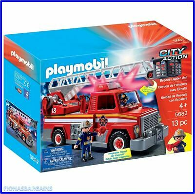 £27.95 • Buy NEW Playmobil 5682 City Action Fire Engine Rescue Ladder Unit Track Playset