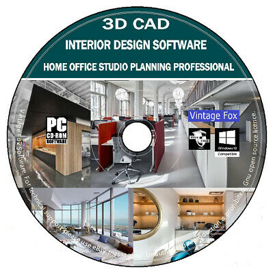 3D CAD Home Office Studio Interior Design Professional Business Place Planning + • 3.95£