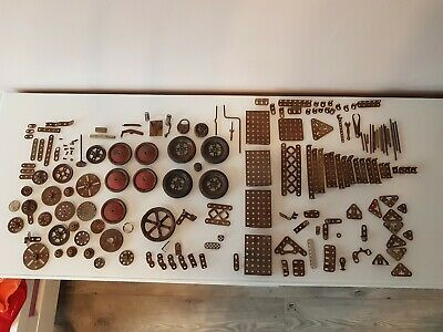 Vintage Meccano JOB LOT Inc 2 Inch Pulleys And Neoprene Tyres Pinions Cogs Gears • 49.99£
