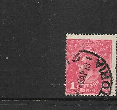 AU19 • Buy STAMPS AUST KGV   1d  RED  - ROSINE    USED    SUB - CLICHE     [ Probable]below