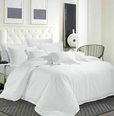 350 Thread Count All Duvet Bedding Items Egyptian Cotton White Solid & All Sizes • 99.99£