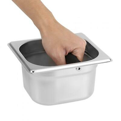 AU18.62 • Buy Stainless Steel Knock Box Container W/ Rubber Bar For Coffee Machine