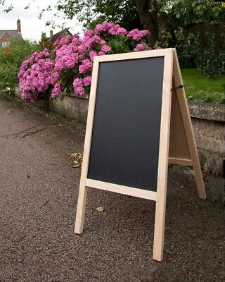 £19.99 • Buy Wooden Chalkboard Easel Sign A Frame Wedding Party Events Natural
