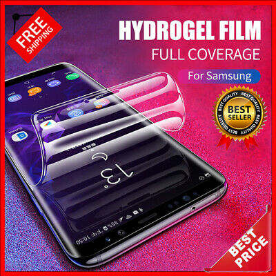 $ CDN6.28 • Buy Silicone Screen Protector For Samsung Galaxy S10 S9 S8 PLUS S Note 8 9 10 A7