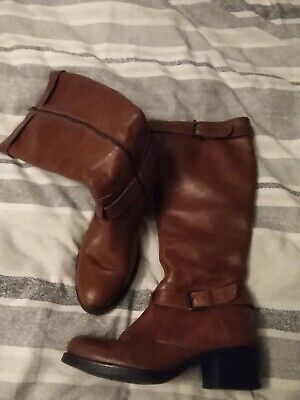 Clarks Ladies Real Leather Tan Brown Boots Size 4 • 16.99£