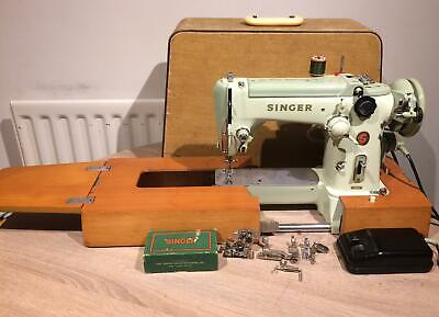 Singer 320K Cylinder Arm Semi Industrial Heavy Duty Zigzag Freehand Embroidery • 450£