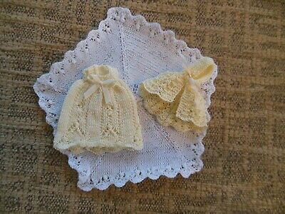 Dolls House 12th Scale,hooded Lace Cape,dress And Shawl,New • 8.50£