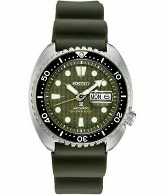 $ CDN478.46 • Buy Seiko Men's King Turtle Green Rubber Automatic Diver's Watch SRPE05