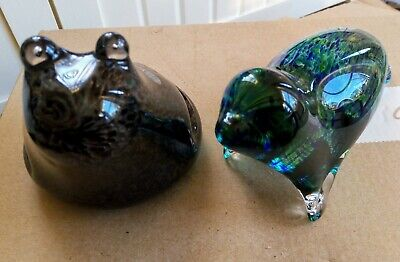 Glass Seal And Frog Sculptures/Paperweights By Wedgewood - Made In England  • 6.50£