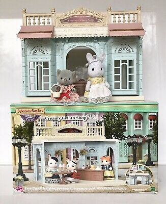 Sylvanian Families Creamy Gelato Shop With Dressed Figures And Accessories Boxed • 5.50£