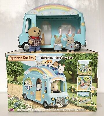 Sylvanian Families Sunshine Nursery Bus With Dressed Figures Boxed • 10.50£