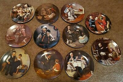$ CDN15.94 • Buy Norman Rockwell Knowles China Heritage Collection 11 Plates 8 1/2 1977 -88 Great