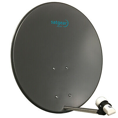 Satgear 80cm Satellite Dish Kit With Twin LNB And Wall Mount  • 77.75£