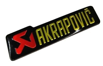 AKRAPOVIC 3D Exhaust Heat Proof Resistant Aluminium Sticker Decal Motorcycle • 2.60£