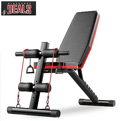 £39.95 • Buy MULTI EXERCISE WEIGHT BENCH Folding Adjustable Bodybuilding Fitness Workout Gym