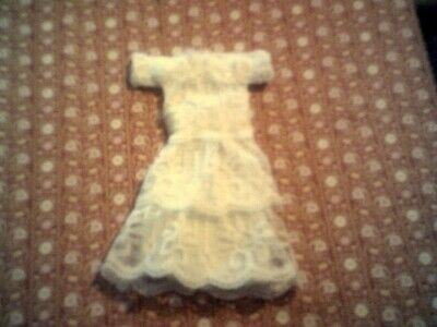 DOLLS HOUSE HAND MADE Wedding Dress Made With Lace • 3.50£