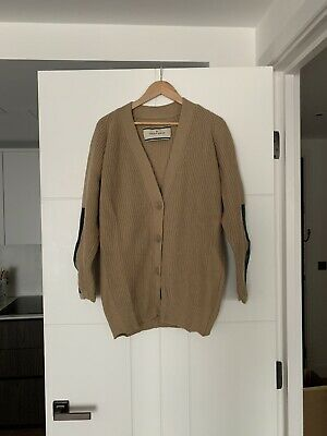Malene Birger Cardigan With Leather Detail Size L • 35£