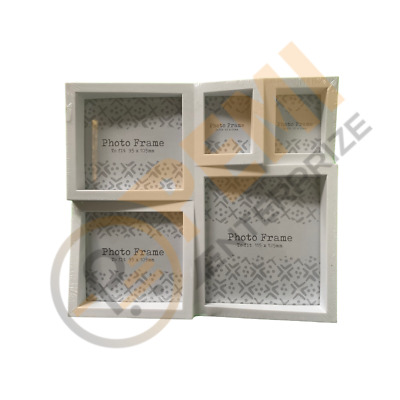 £3.80 • Buy 5 Photos Frame Multi Size Picture Collage Photo Aperture Home Decor Gift Family