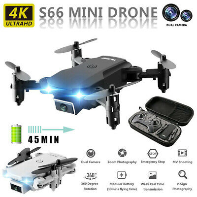 AU70.33 • Buy S66 Drone RC WIFI FPV HD1080P 4K Dual Camera Foldable RC Quadcopter Mini 2.4G
