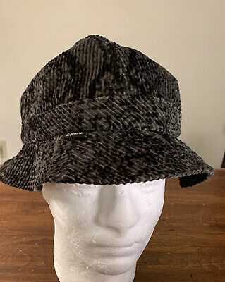$ CDN136.22 • Buy Supreme Snakeskin Corduroy Bell Hat/ Black Size S/m Fw20 (in Hand) Authentic New