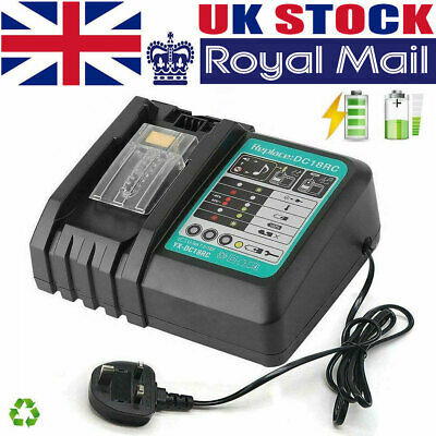 For Makita DC18RC Replacement Fast Battery Charger 7.2V-18V LED Screen UK Plug • 19.64£