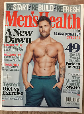 Mens Health Magazine Jan/Feb 2021 Great Condition, Great For Lockdown Boredom! • 0.99£