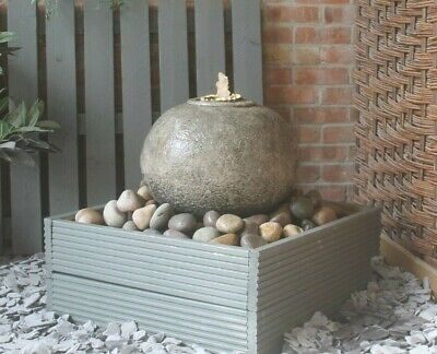 £401.50 • Buy Stone Cassius Ball Fountain Garden Water Feature Ornament