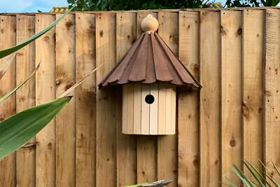 Kirby Bird Box | Dovecote Style Birds House Wooden Hanging Garden Nesting Box • 39.99£