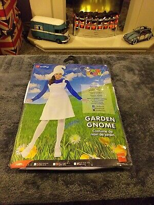Ladies Smurf Garden Gnome Fancy Dress Costume Size Small 8-10 Party • 2.50£