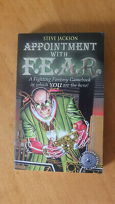 AU30 • Buy Appointment With F.E.A.R Fighting Fantasy 18 Wizard Books Series 1 Steve Jackson