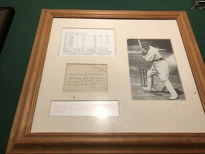 Signed And Framed WG Grace Letter. English Cricket Icon. • 250£