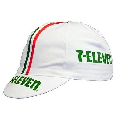 7 Eleven Retro Vintage Cycling Team Summer Under Helmet Made Italy Bike Hat Cap  • 3.99£