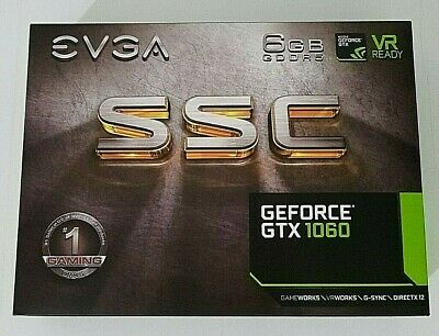 $ CDN294.81 • Buy EVGA Dual Fans GeForce GTX 1060 SSC 6GB GDDR 5 Graphics Card
