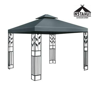 AU161.50 • Buy Instahut Gazebo 3x3 Party Marquee Outdoor Wedding Event Tent Iron Art Canopy