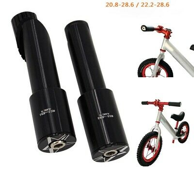 £12.97 • Buy 20.8/22.2 To 28.6mm Bicycle Stem Fork Adapter Rod Balance Bike Scooter Converter