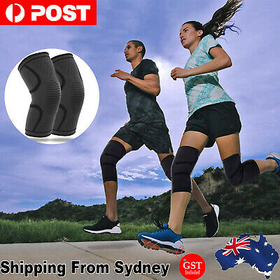 AU6.59 • Buy Knee Support Brace Compression Sleeve Arthritis Pain Relief Running Gym Sports A