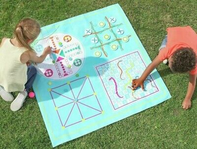 Party Animal 4 In 1 Games Picnic Blanket Mat,garden,board Games,Outdoor Playtime • 12.99£
