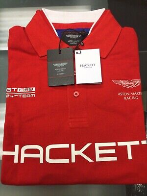 HACKETT ASTON MARTIN RACING POLO HM561195/255 X-LARGE NEW Free UK Ship • 34.99£